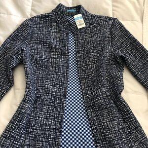 J McLaughlin Collar Zipper Front Fit Jacket